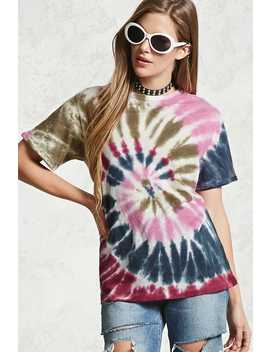 Circle Tie Dye Tee by F21 Contemporary