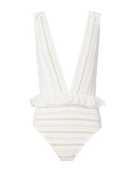 Bardot Deep V One Piece Swimsuit by Nightcap Clothing