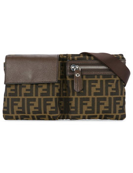 Zucca Pattern Belt Bag by Fendi Vintage