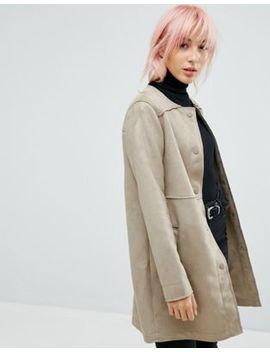 New Look Suedette Collarless Jacket by New Look