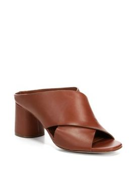 Theron Leather Mules by Vince