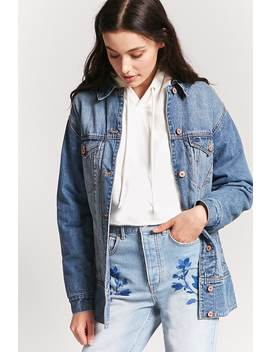 Denim Button Front Jacket by F21 Contemporary