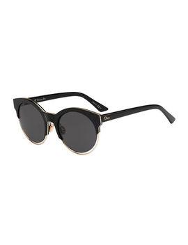 Sideral 1 Metallic Trim Cat Eye Sunglasses by Dior