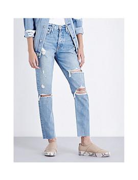 Karolina Distressed Skinny High Rise Jeans by Grlfrnd