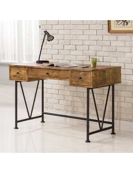 Coaster Furniture Antique Nutmeg Writing Desk With V Shaped Legs by Coaster Furniture