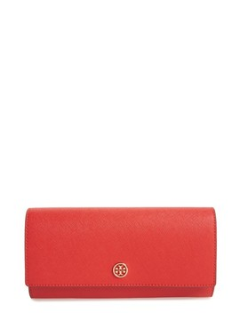 Robinson Leather Continental Wallet by Tory Burch