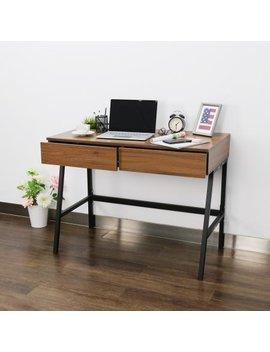 "Kinbor Computer Desk Modern Stylish 39"" Home Office Study Table Writing Desk Workstation With 2 Drawers by Kinbor"