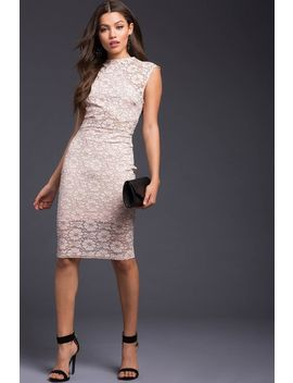 Natalia Lace Bodycon Dress by A'gaci