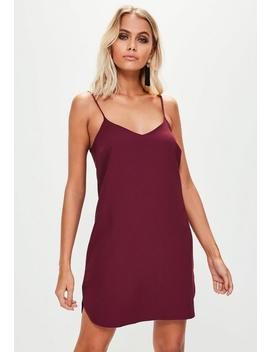 Burgundy Cami Crepe Shift Dress by Missguided