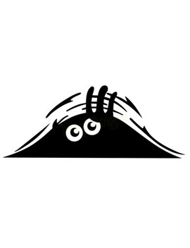 Car Styling Accessories Reflective Waterproof Fashion Funny Peeking Monster Car Sticker Vinyl Decal Decorate Sticker by I Timo Store