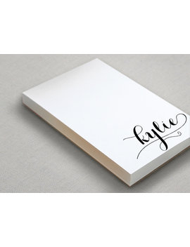 Personalized Notepad Gift | Monogram Note Pad | Custom To Do List | Monogrammed Stationery | Holla! by Etsy