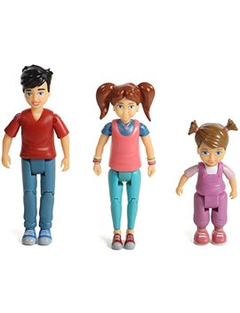 Sweet Li'l Family Set Of 3 Action Figure Set: Girl, Boy And Toddler by Beverly Hills Doll Collection Tm