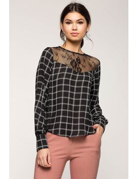 Windowpane Lace Blouse by A'gaci
