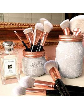 Grey & White Marble Set Of 2   Kilner Jars   Makeup Organiser by Etsy