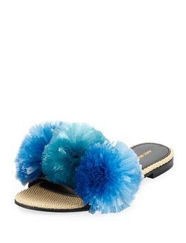 Bora Bora Pompom Slipper Sandal by Avec Moderation