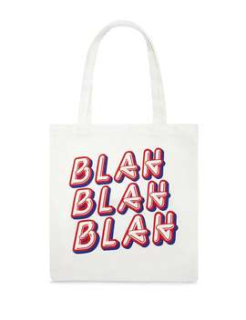 Blah Blah Blah Graphic Tote Bag by Forever 21