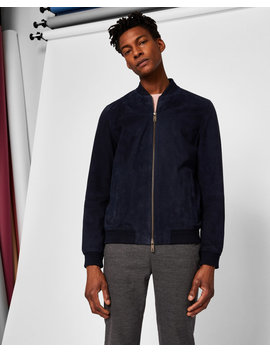 Suede Bomber Jacket by Ted Baker