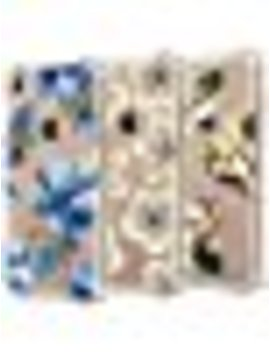 [Upgraded] I Phone 7 Case, I Phone 8 Case, [3 Pack] Carter Lily [Shock Absorption] Watercolor Flowers Floral Pattern Soft Clear Flexible Tpu Back Case For I Phone 7 I Phone 8 4.7''   Blue Flowers by Carter Lily