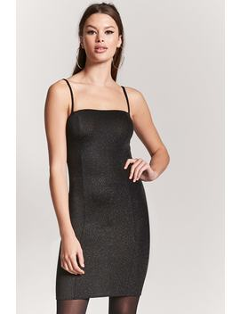 Metallic Stretch Knit Dress by F21 Contemporary