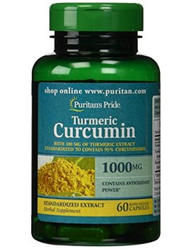 Puritan's Pride Turmeric Curcumin 1000 Mg W/Bioperine Capsules, 60 Count by Puritan's Pride