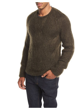 Cable Knit Mohair Silk Sweater by Neiman Marcus