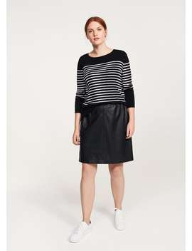 Side Lace Up Striped Sweater by Mango