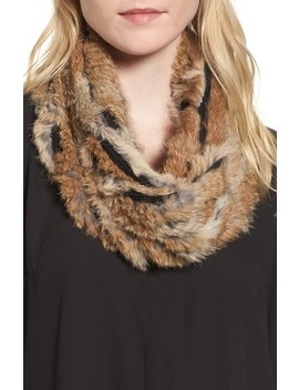Genuine Rabbit Fur Infinity Scarf by Vincent Pradier