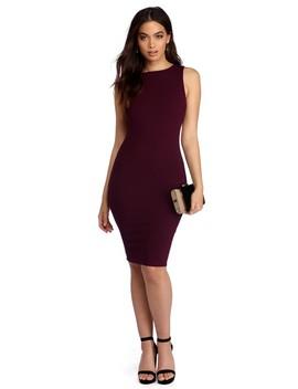 Burgundy A Class Act Dress by Windsor