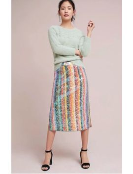 Nwt Anthropologie Sequined Palette Midi Skirt By Maeve Size 0 by Anthropologie