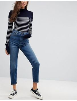 Asos Farleigh High Waist Slim Mom Jeans In Neo Wash by Asos Collection