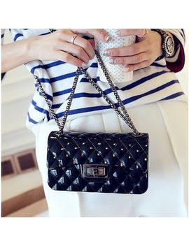 Quilted Chain Strap Shoulder Bag by Youshine
