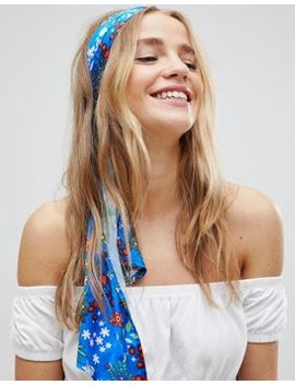 Asos Blue Floral Headscarf by Asos Collection