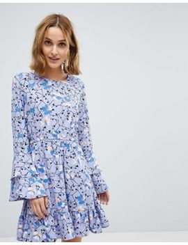 Vero Moda Floral Dress With Ruffle Sleeve Detail by Vero Moda