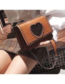 Studded Chain Strap Shoulder Bag by New Town