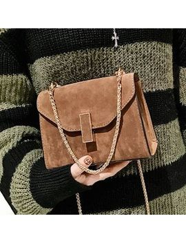 Chained Velvet Shoulder Bag by Etta