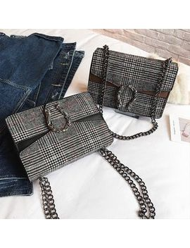 Plaid Chained Shoulder Bag by Nautilus Bags