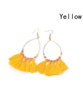 2017 New Arrival Fashion Hot Sale Bright Colour Fan Tassel Earrings Women Circle Earrings Bohemia by Sakula Store