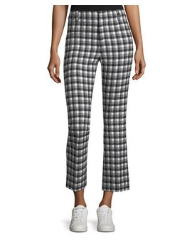 Cropped Flare Gingham Trousers by Derek Lam 10 Crosby