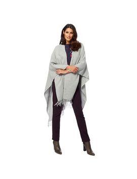 Rjr.John Rocha   Grey Plain Wrap With Wool by Rjr.John Rocha