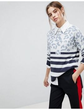 Esprit Stripe And Animal Jumper by Esprit