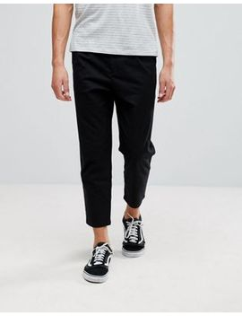 Pull&Bear Relaxed Chino In Black by Pull&Bear