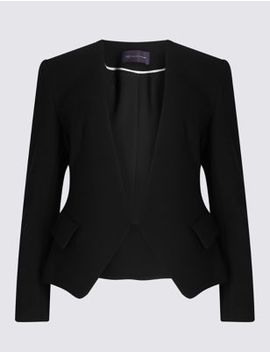 Petite Collarless Jacket by Marks & Spencer
