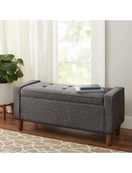 Better Homes And Gardens Flynn Mid Century Modern Upholstered Storage Bench, Multiple Colors by Better Homes And Gardens