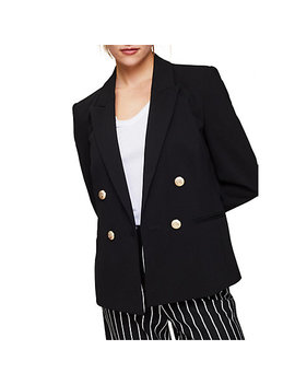 Miss Selfridge Military Blazer, Black by Miss Selfridge
