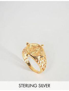Asos – Vergoldeter Ring Aus Sterlingsilber Im Vintage Stil Mit Münze by Asos Collection