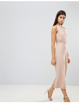 Asos Jumpsuit With Pearl Embellishment by Asos Collection