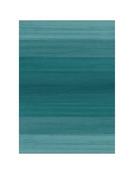 "Washable Indoor/Outdoor Stain Resistant 5x7 (60""X84"") Area Rug 2pc Set (Cover And Pad) Ombre Blue by Crystal Art"