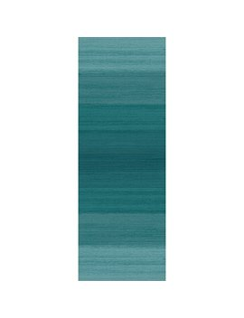 "Washable Indoor/Outdoor Stain Resistant 2.5x7 (30""X84"") Runner Rug 2pc Set (Cover And Pad) Ombre Blue by Crystal Art"