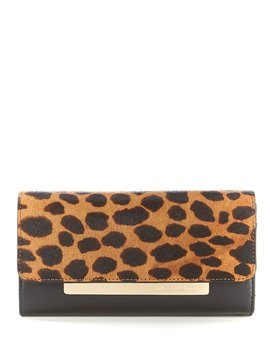 Vince Camuto Ensie Leopard Print Haircalf Wallet by Vince Camuto