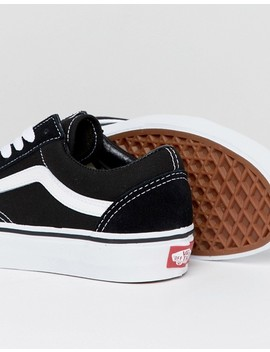 Vans Classic Old Skool Trainers In Black And White by Vans